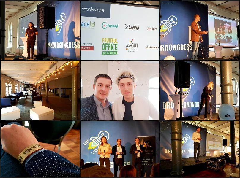 Eindrücke vom Gründerkongress 2018 in Berlin. Mein absolutes Highlight waren Lencke Steiner und Tobias Beck.